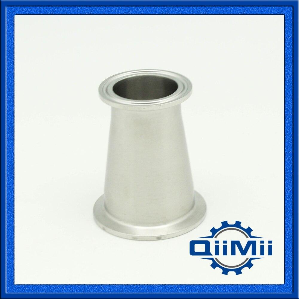 Braçadeira Tri Redutor Concentic SS304 Encaixe de Tubulação Sanitária do Aço Inoxidável