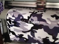 Jumbo Blue Midnight Camouflage Vinyl Wrap Film Blue Midnight Camo Vinyl Sticker For SUV TRUCK Jeep 30M/Roll