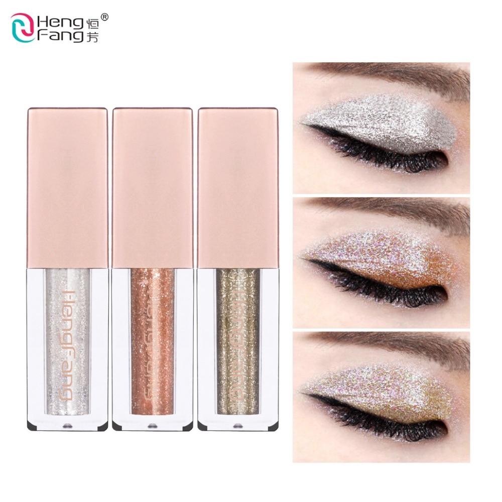 6 colors/lot Hengfang Metal Liquid Eyeshadow Glitter Eye Shadow Liquid Shimmer Stick Beauty Tool Korea Cosmetic Gift For Girl