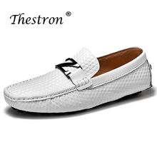 Thestron New Comfortable Men Shoes Leather Driving Footwear Fashion Slip On Mens Loafers Size 38-44 Casual