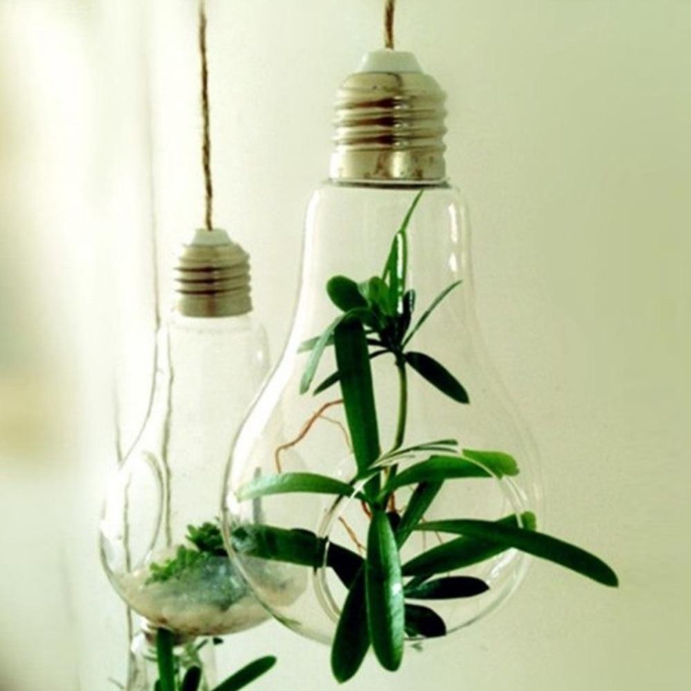 2017 new glass bulb lamp shape flower water plant hanging vase 2017 new glass bulb lamp shape flower water plant hanging vase hydroponic container pot home office wedding decor in vases from home garden on reviewsmspy