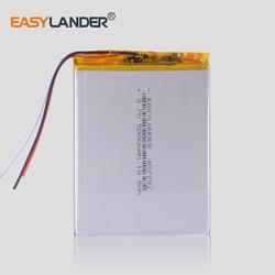 3 przewody 407292 3.7V 5000mAh akumulator litowo-polimerowy do tabletu Irbis TZ56 TZ49 3G TZ709 TZ707 iPAQ texet tm 7043xd U25GT