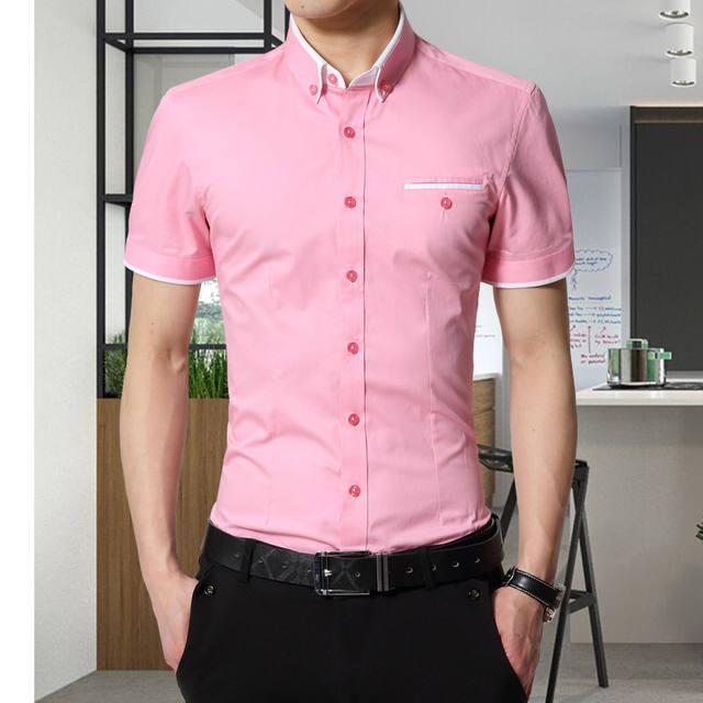 TFETTERS New Arrival Brand Men's Summer Business Shirt Short Sleeves Turn-down Collar Casual Shirt Shirt Men Shirts Big Size 5XL