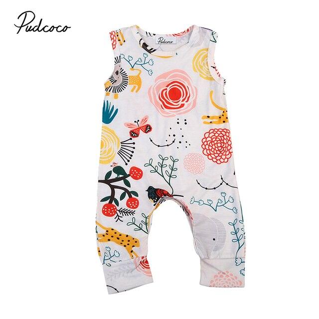 27aa07e899c0 Cute Newborn Infant Baby Boy Girl Floral Clothes Summer Sleeveless ...