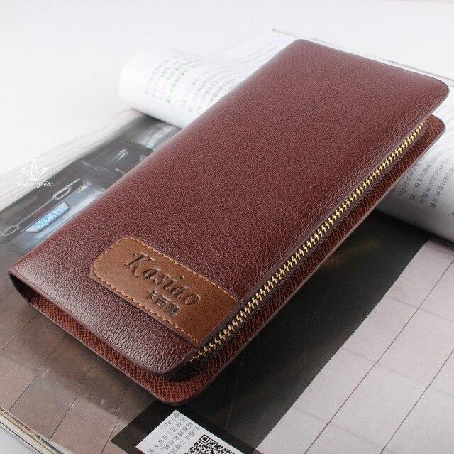 Fashion Chrismas Nice Gift To Husband Boyfriend Father Handbags Zipper Solid Day Clutchesr Brief Soft Business