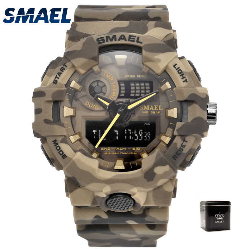 Smael Led Reloj Para Digitales MilitarCaja De Militar AguaPulsera Prueba Camuflaje A HombreRelojes Deportivos Tc3FJlK1