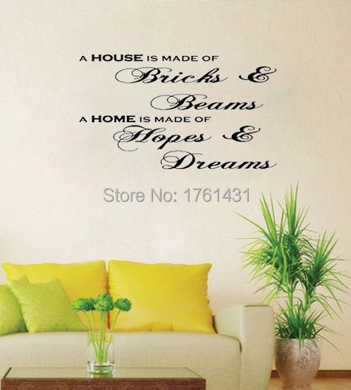 Hopes Dreams Wall Decals Vinyl Stickers Home Decor Living Room