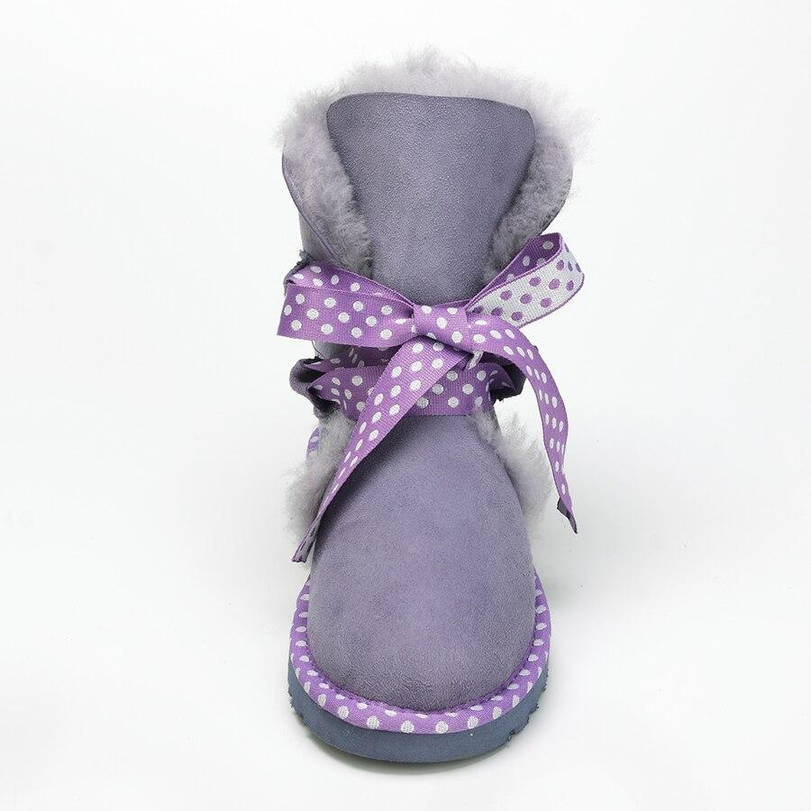 Botas de nieve de piel de oveja auténtica de calidad superior 2019 nuevas Botas de lana Real Mujer invierno zapatos de abrigo de piel Natural para Mujer-in Botas de nieve from zapatos    2