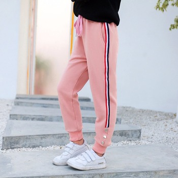 Girls Clothing Cotton Teenagers Girls Pants Casual Sports Clothes For Girl Kids Spring Autumn Brand Trousers 5-14 Years girl