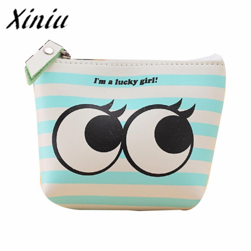 Xiniu emoji purses for girls mini coin purse cute leather Small Wallet 2017 new fashion women wallets female cards holder #SS