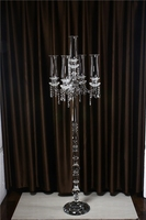 Latest tall large crystal wedding candelabra centerpiece 65.35inch 5 arm candle holder