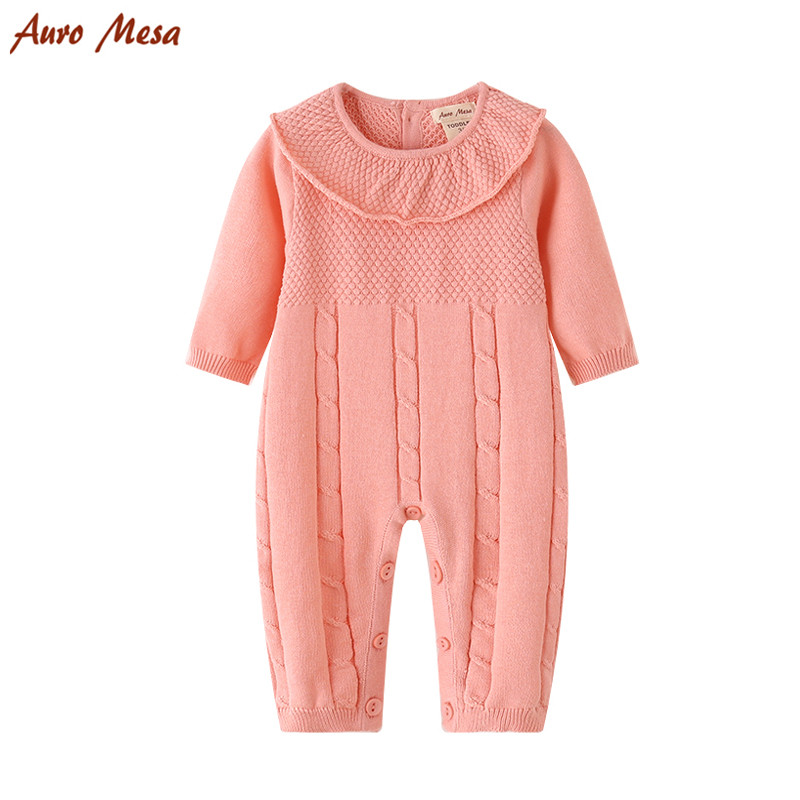 2017 Spring  Baby Knitting Romper 100% Cotton Pink Newborn Jumpsuit Soft Girl Jumper Onesie Playsuit sf short lace front bob wigs for black women 9a pre plucked unprocessed virgin human hair brazilian wig with baby hair