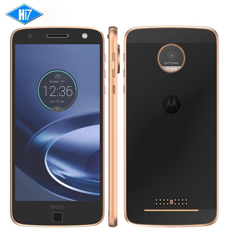 NOUVELLE D'origine Motorola MOTO Z XT1650-05 Mobile Téléphone 4 GB RAM 64 GB ROM 5.5 ''Android 13.0MP NFC 2560*1440 4G LTE Moto 2600 mAh