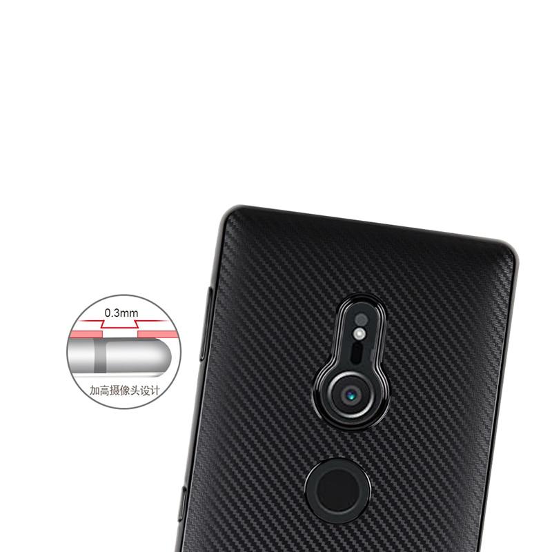 carbon fiber silicone case sony xperia xz2 (8)