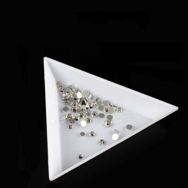 5 шт. Trangle хрустальный Кубок лоток камень пластина для принять снести бусины Стразы блестит в DIY коробка для ногтей