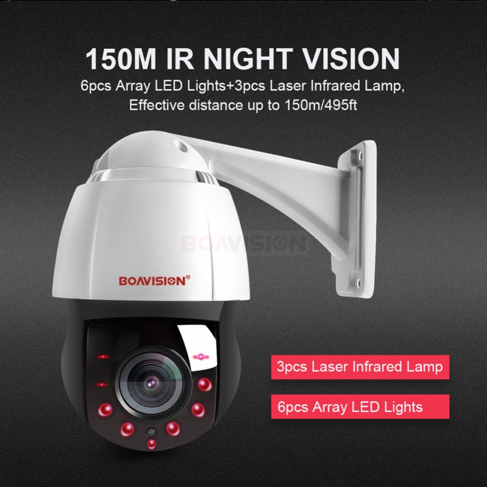 Nouveau 4.5 Pouces HD 1080 P 4MP 5MP PTZ IP Caméra Extérieure Réseau Onvif Vitesse Dôme 30X assiettes premier âge caméra PTZ CCTV 150 m IR vision nocturne - 4