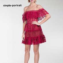 e588a5cdfff9f Popular Self Portrait Red Lace Dress-Buy Cheap Self Portrait Red ...