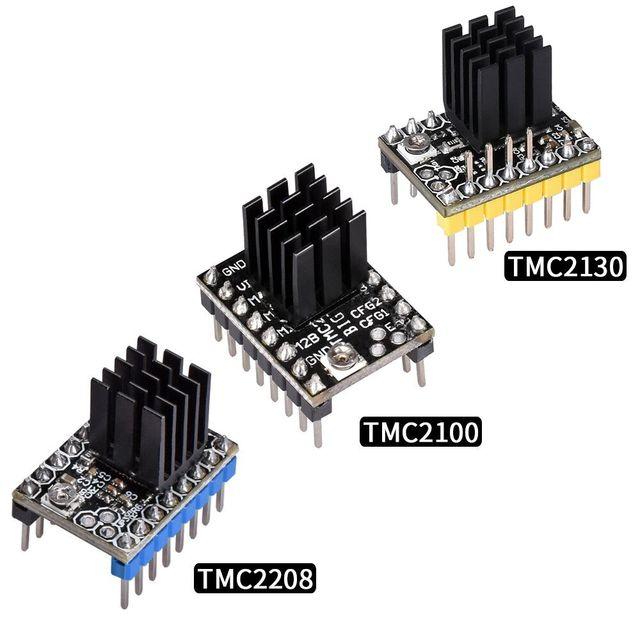TMC2130 TMC2208 TMC2100 Драйвер шагового двигателя Stepstick Mute драйвер МКС 3D-принтеры Запчасти СКР V1.3 Ramps 1,4 1,6 Управление доска