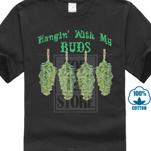 Casual Short Sleeve T Shirt Novelty Big And Tall T Shirt Hangin Buds Funny  Weed Pot 8fcd7b6a2fd8