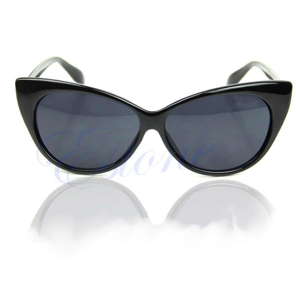 Gafas de sol de moda para mujer estilo Retro estilo Sexy ojo de gato gafas de sol al aire libre rojo/Negro/morado/leopardo