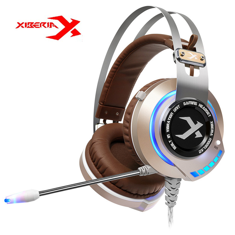 Original XIBERIA K2 Breathing Stereo Deep Bass LED Light Gaming Headset With Microphone Headphone Mic Music PC Gamer Headband