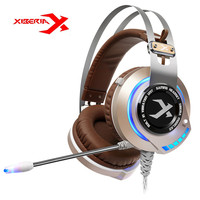 Original XIBERIA K2 Breathing Stereo Deep Bass LED Light Gaming Headset With Microphone Headphone Mic Music