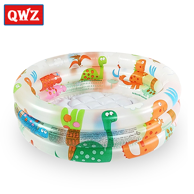 QWZ Cute Small Dinosaur Inflatable Ocean Ball Pool Swimming Pool Round Pool Ball Pool Inflatable Baby Bath Tub Bottom Basin