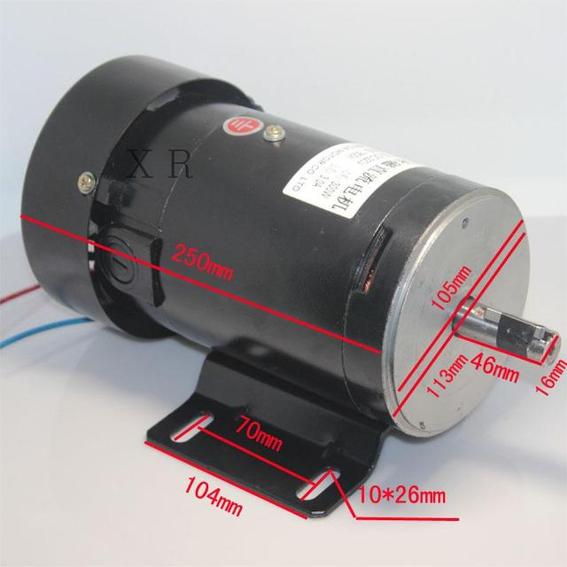 Permanent Magnet Motor >> Us 110 19 5 Off Hot 220v Dc Permanent Magnet Motor 500w Powerful Motor Speed 3000 Rpm Speed Reversing Motor In Dc Motor From Home Improvement On