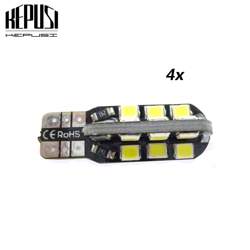 4 Pcs T10 led W5W Bulb 194 24SMD 2835 t10 auto car Side Wedge Light Parking Interior Lighting Signal Lamp styling