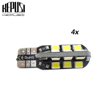 цена на 4 Pcs T10 led W5W Bulb 194 24SMD 2835 W5W led t10 auto car Side Wedge Light Parking Interior Lighting Signal Lamp car styling
