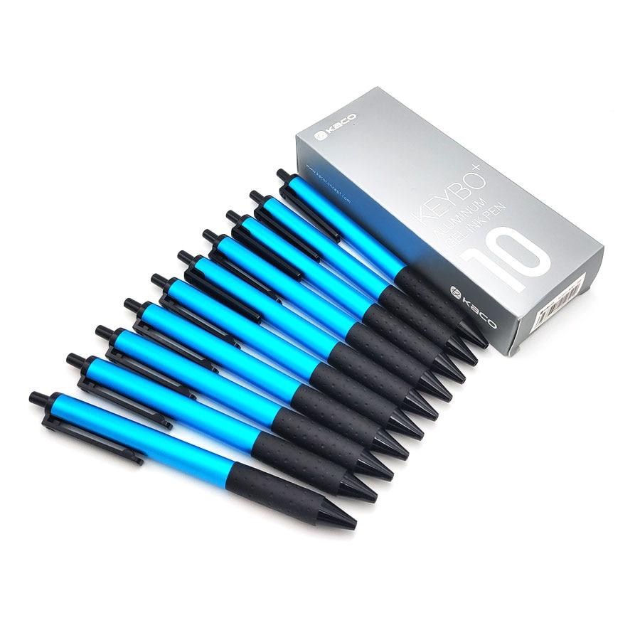 10pcs/lot Gel Pens Kaco KEYBO+ Metal Body Smooth Writing Black/Blue/Red Ink 0.5mm Signing Pens Office & School Pen