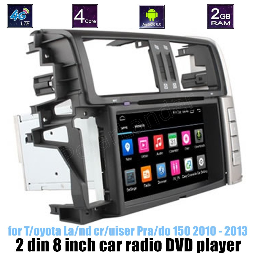 Pour Toyota Land cruiser Prado 150 2010-2013 lecteur DVD de voiture GPS écran tactile WIFI écran tactile Bluetooth