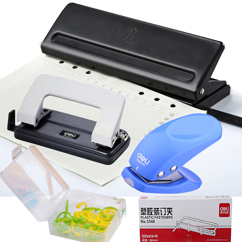 1 PCs School Office Metal Single Hole Puncher Hand Paper Punch Single Hole Scrapbooking Punches 10 Pages All Metal Materials