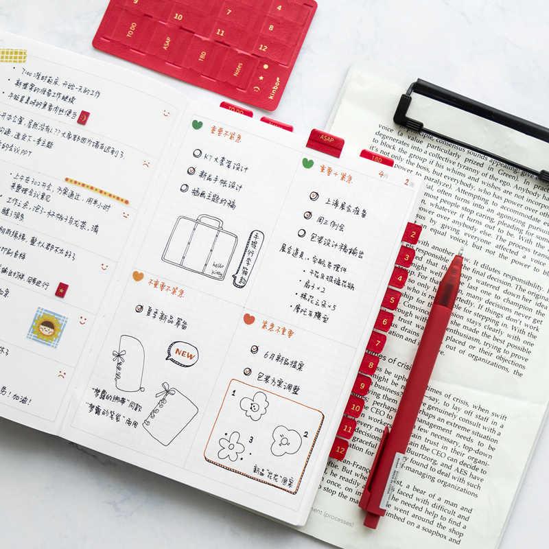 PU Index Sticker 10.4*6.5cm 1 Piece DIY Marker Stationery Supplies 2019 New