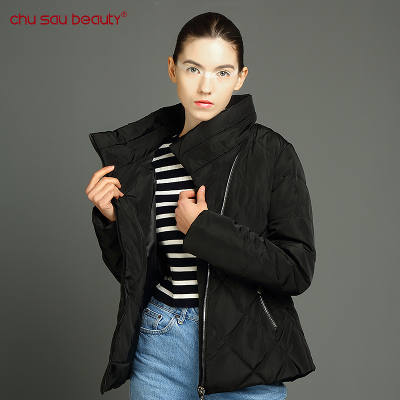 biocen 2018 Spring Autumn Warm Winter Jacket Women New Fashion Women's Solid Color Cotton Coat Outerwear Spring Winter Jacket