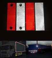 Heißer verkauf 10 Teile/los rote und weiße kunststoff retro reflektor für auto