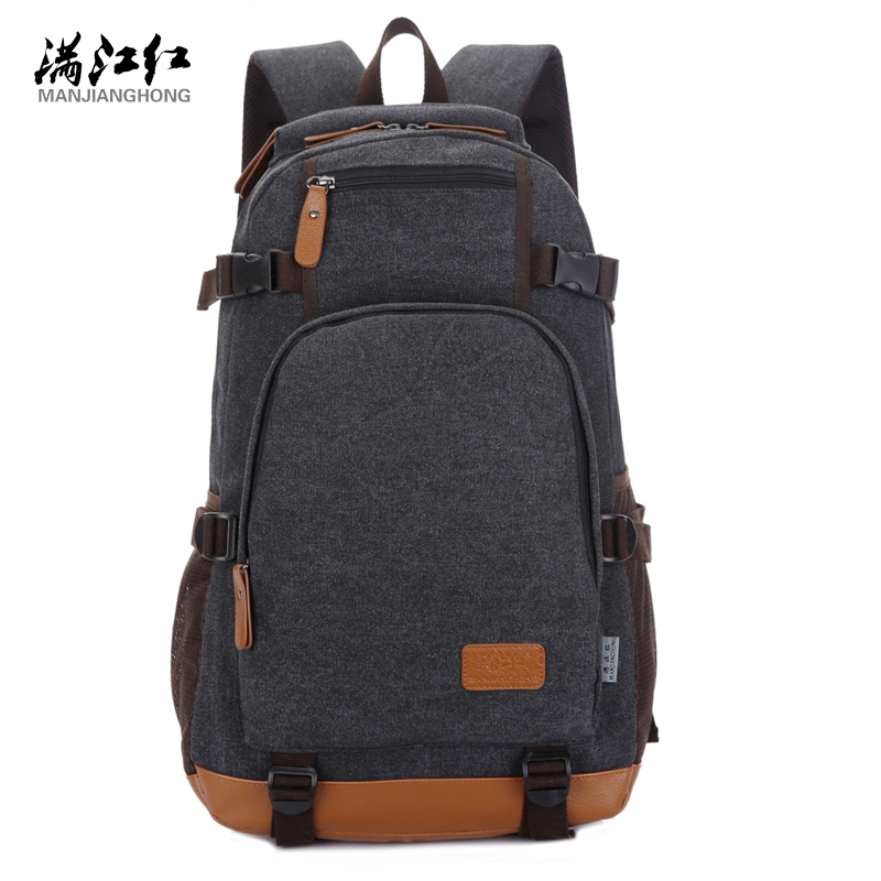 Manjianghong Canvas Backpack High Quality Big Capacity Travel Men Backpack Mountaineering Backpack Bag 1266