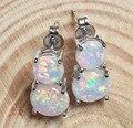 Delightful White Fire Opal Earrings for Lady