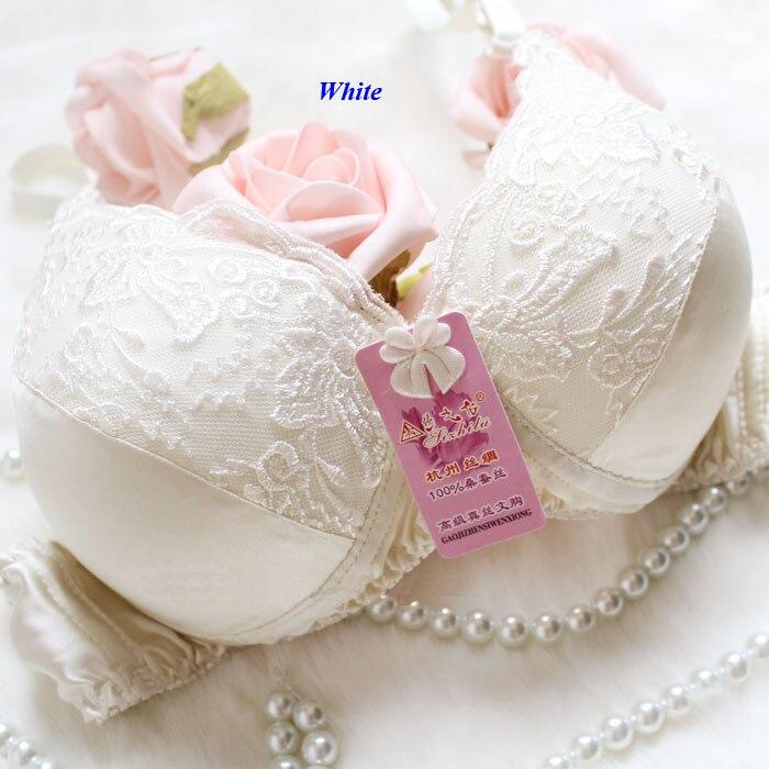 4e74410080b 100% natural silk lady lace bra