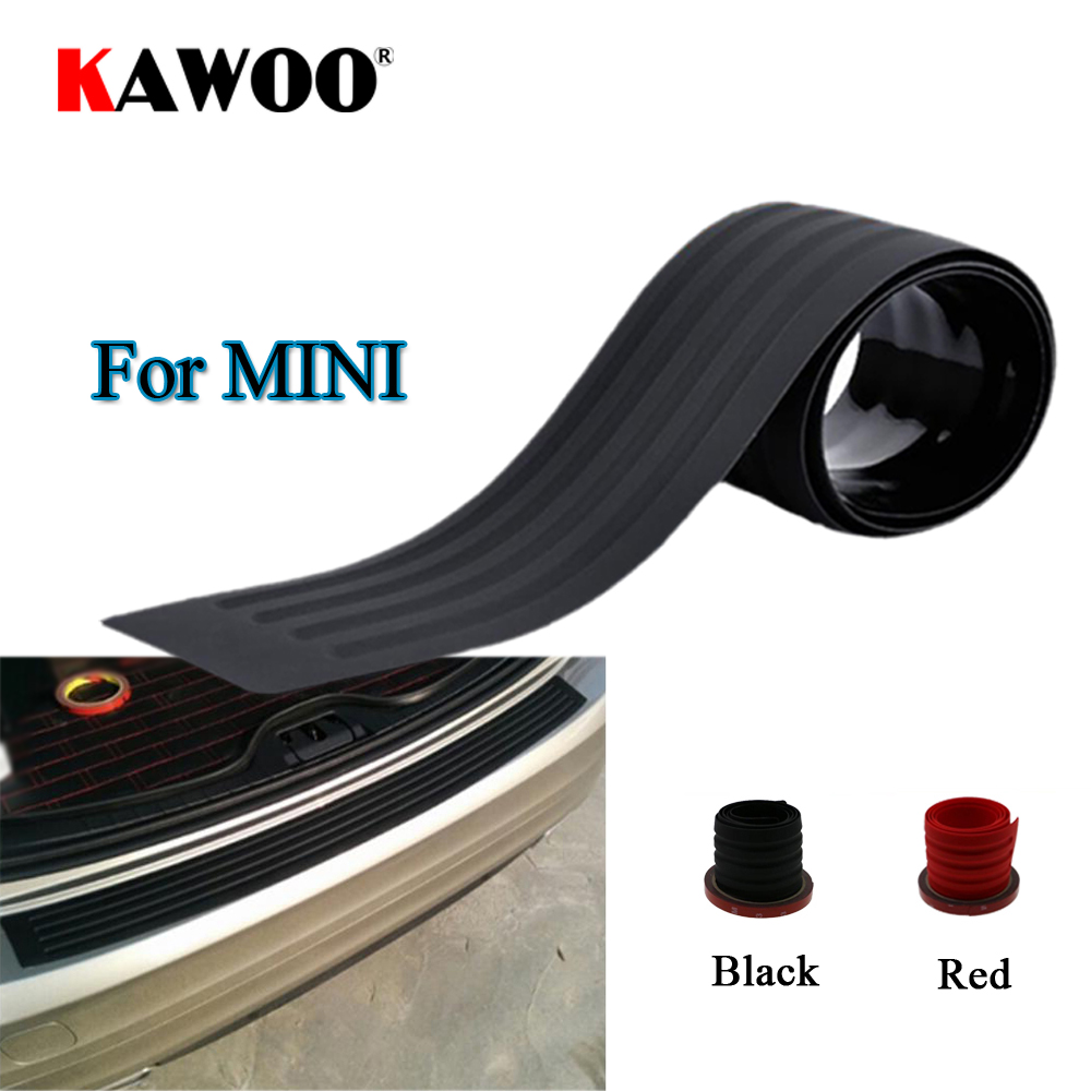 KAWOO For Mini One Cooper Countryman Roaderster All4 Coupe Rubber Rear Guard Bumper Protect Trim Cover Sill Mat Pad Car Styling carking d1409124 uk flag style abs uv protected door handle cover for mini cooper countryman 4 pcs