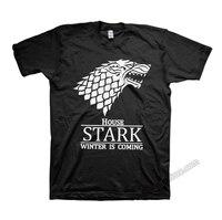 Игра престолов House STARK Direwolf футболки Thornes Песнь Льда и Огня Футболки Старк скоро зима футболки