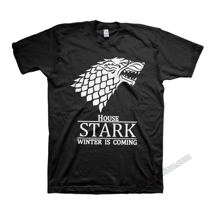 Game of Thrones House Stark direwolf T shirts thornes a song of ice and fire T-shirts Stark Winter is Coming tee shirts