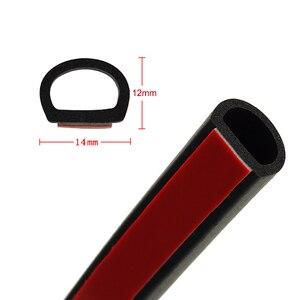 Image 3 - 8 metros de relleno grande tipo D sello de goma adhesivo para coche aislamiento acústico impermeable Anti polvo coche 3M tira de sellado de puerta burlete