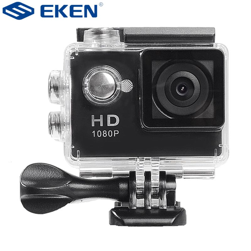 EKEN A8 1080P 5MP 2 Inch Helmet Sports Camera DV Bicycle Action Waterproof Digital Camera 30 Meters waterproof vs xiaomi