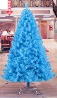 240CM Tall Luxury Encryption sky blue Christmas Tree Heavy Pine Artificial PVC Ximas Christmas Trees New Year Decoration