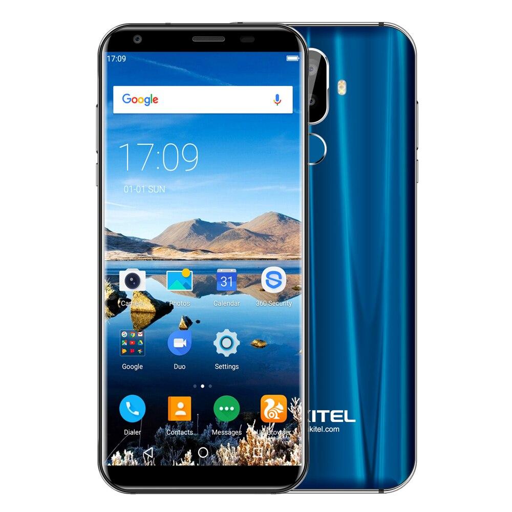 OUKITEL K5 4g Smartphone 5.7 pouce Android 7.0 QuadCore 1.5 ghz 2 gb RAM 16 gb ROM 4000 mah double Arrière Caméras Reconnaissance D'empreintes Digitales