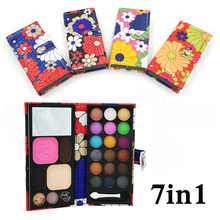 7 in 1 New Lovely Cute 18 color Professional cosmetic makeup set Matte shimmer eye shadow blush powder Lip frozen Palette Gift