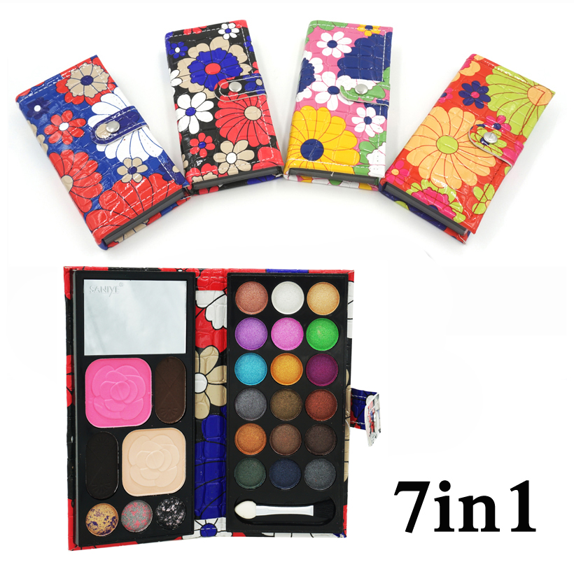7 in 1 New naked palette 18 color Professional cosmetic make up set Matte shimmer eyeshadow blush powder Lip frozen Palette