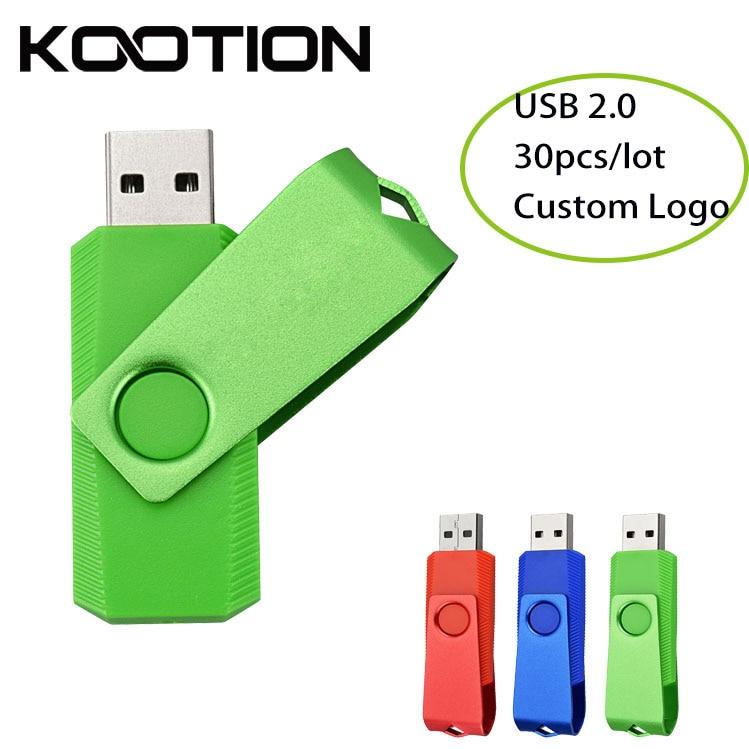 30pcs/lot Custom Logo Business Gift USB Flash Memory Stick ...