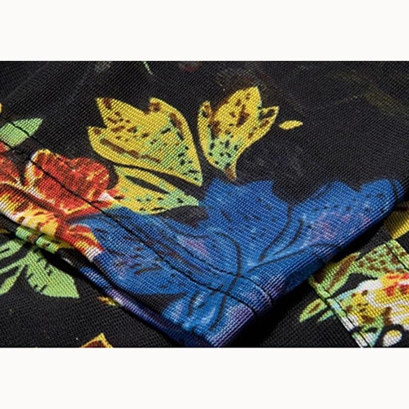Chemise Chemisier Imprimé Femme Automne Floral Printemps Casual Équipée Motif 3xl Manches Fleur Plein Maille Femmes Mince Blouses gPx1wvpqx